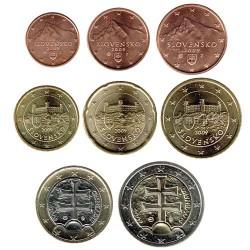 Eslovaquia 2009 Tira 8 valores S/C