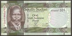 Sudán del Sur 1 Libra PK 5 (2.011) S/C