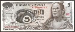 Méjico 5 Pesos PK 62c (27-6-1.972) S/C