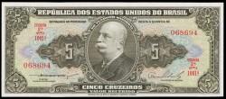 Brasil 5 Cruzeiros PK 158b (1.953-59) S/C