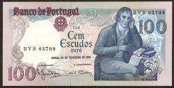Portugal 100 Escudos Pk 178b (24-2-1.981) S/C