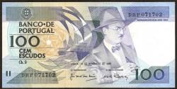 Portugal 100 Escudos Pk 179f (24-11-1.988) S/C
