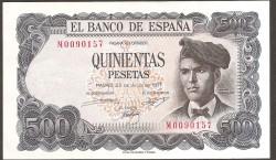 500 Pesetas 1971 Pick 153 aUNC