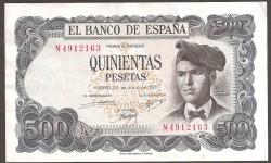 500 Pesetas 1971 Pick 153 VF+