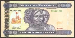 Eritrea 100 Nakfa PK 8 (24-5-2.004) S/C