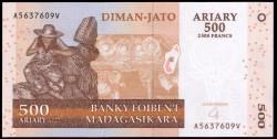 Madagascar 500 Ariary PK 88b (2.004) S/C