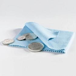 Paño para pulir monedas, azul