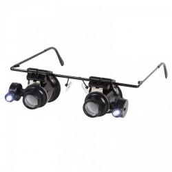 Gafas lupa BINOKEL con 20 aumentos y LED