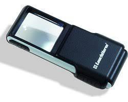 Lupa de bolsillo SLIDE de 3 aumentos y LED