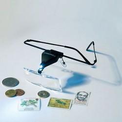 Gafas lupa VISIR, incluye 3 lupas diferentes acoplables (1.5x, 2.5x y 3.5x) con LED