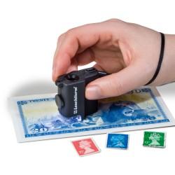 Microscopio de bolsillo con LED, aumentos 15x