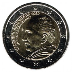 Grecia 2017 2 Euros. Nikos Kazantzakis S/C