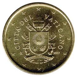 Vaticano 2017 50 Céntimos S/C