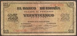 25 Pesetas 1938 Burgos Giralda BC+