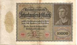 Alemania 10.000 Marcos PK 71 (19-1-1.922) MBC