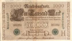 Alemania 1.000 Marcos PK 45b (21-4-1.910) MBC-