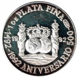 Onza Plata Primer Viaje-Nuevo Continente 999 milésimas EBC
