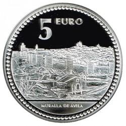 5 Euros plata 2010 Capitales de Provincia: Ávila PROOF