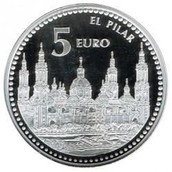 5 Euros plata 2011 Capitales de Provincia: Zaragoza PROOF