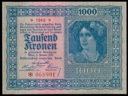 Austria 1.000 Coronas PK 78 (2-1-1.922) EBC