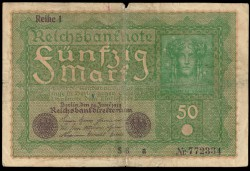Germany 50 Mark Pick 66 (24-06-1919) F-VF