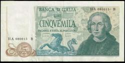 Italia 5.000 Liras PK 102a (20-05-1.985) MBC