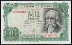 1000 Pesetas 1971 José Echegaray MBC- (Serie especial 9C)