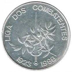 Portugal 1.000 Escudos de Plata 1998 Liga de los Combatientes S/C