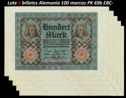 5 x Germany 100 Mark PK 69b (1-11-1.920) VF-EF (stain)