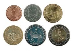 Albania 2000 - 2016 6 Coins (1,5,10,20,50 and 100 Leke) UNC