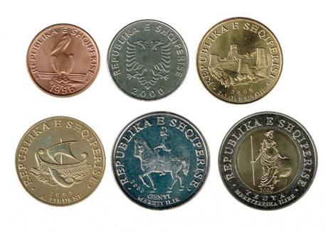 Albania 1996 - 2000 6 valores (1,5,10,20,50 y 100 Leke.) S/C