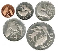 Islas Vírgenes Británicas 1973-1974 5 valores (1,5,10,25 y 50 cents.) PROOF