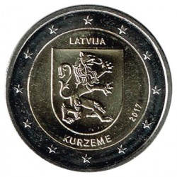 Letonia 2017 2 Euros. Región de Kurzeme S/C