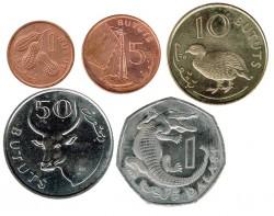 Gambia 1998 6 valores (1,5,10,25,50 Bututs y 1 Dalasi) EBC