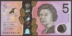 Australia 5 Dólares PK Nuevo (2.016) S/C