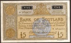 Escocia 5 Libras Pk 106a (8-10-1.963) MBC+
