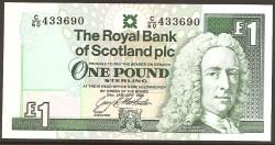Escocia 1 Libra Pk 351c ( 24-01-1.996 ) S/C