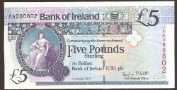 Irlanda del Norte 5 Libras PK 86 (1-1-2.013) S/C