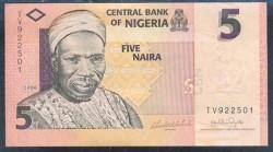 Nigeria 5 Naira PK 32 (2.006) S/C