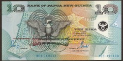 Papúa Nueva Guinea 10 Kina Pk 26a (2.000) S/C