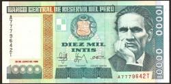 Perú 10.000 Intis PK 140 (28-6-1.988) S/C