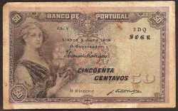 Portugal 50 Centavos PK 112b (5-7-1.918) MBC-