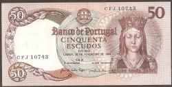 Portugal 50 Escudos Pk 168(5) (28-2-1.964) EBC