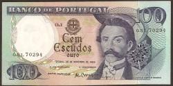 Portugal 100 Escudos Pk 169a(2) (30-11-1.965) EBC