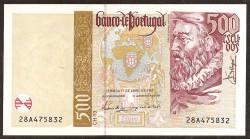 Portugal 500 Escudos Pk 187a (2) ( (17-4-1.997) S/C