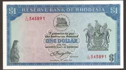 Rodesia 1 Dólar PK 34c (18-4-1.978) EBC