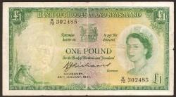 Rodesia y Niyasaland 1 Dólar PK 21 (25-1-1.961) MBC