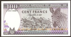 Ruanda 100 Francos PK 19 (24-4-1.989) S/C