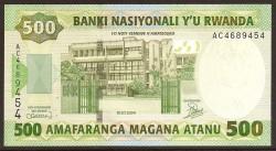 Ruanda 500 Francos PK 30 (1-7-2.004) S/C