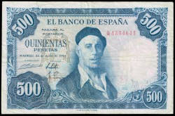 500 Pesetas 1954 Zuloaga MBC-